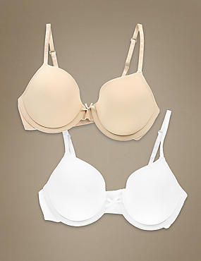2 Pack Padded Underwired First Bras AA-E