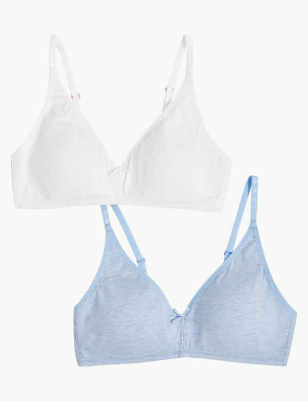 2 Pack Non-Wired Full Cup Bras A-D 9661a8514