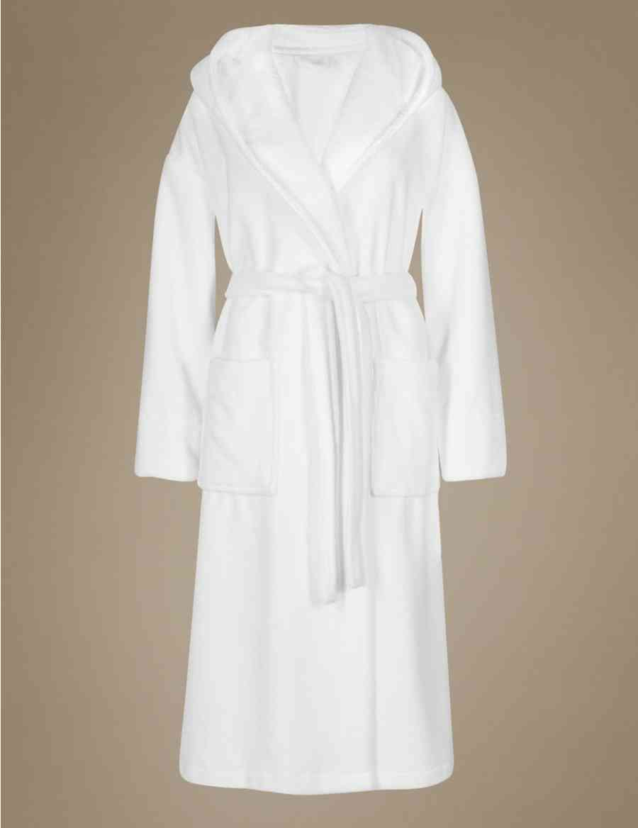 080fbdb3cb Hooded Towelling Belted Dressing Gown