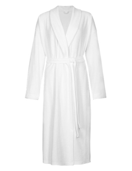 Cotton Rich Baby Terry Wrap Dressing Gown with Belt