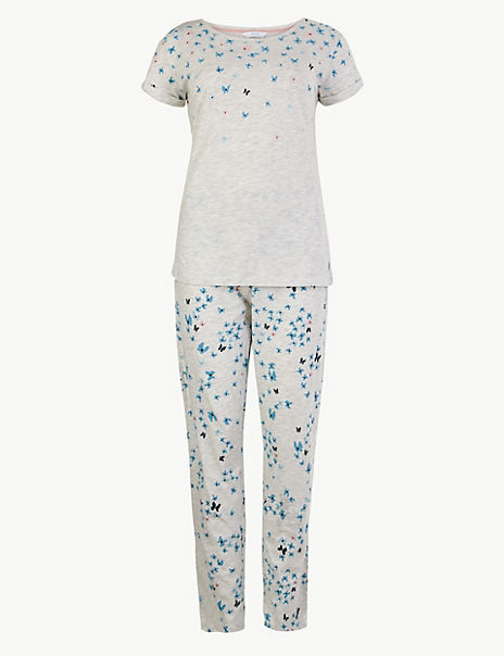Butterfly Print Short Sleeve Pyjama Set