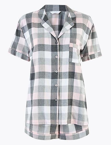 Checked Shorts Pyjama Set