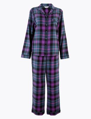 M&S COLLECTION Sparkle Check Pyjama Set