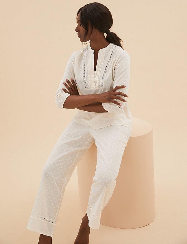 Pure Cotton Dobby Pyjama Set