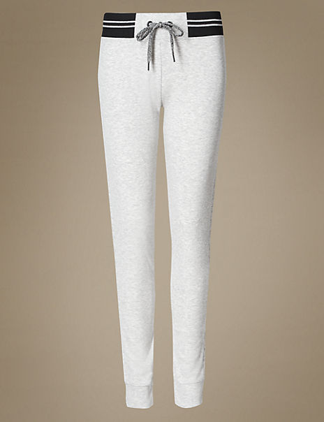 Contrasting Waist Pyjama Bottoms