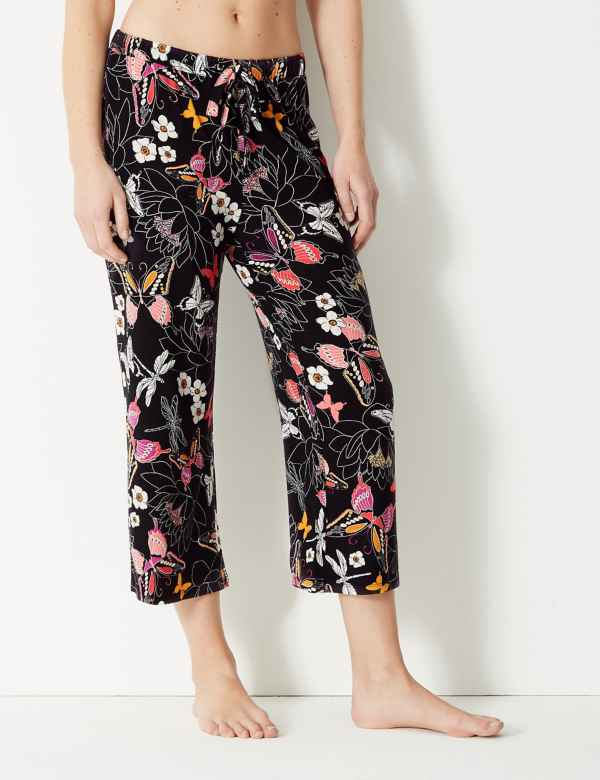 7eaf0718013 Butterfly Cropped Pyjama Bottoms