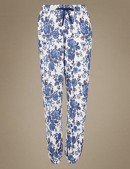 Floral Print Cuffed Hem Pyjama Bottoms