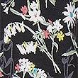 Floral Print Cuffed Hem Pyjama Bottoms, BLACK MIX, swatch