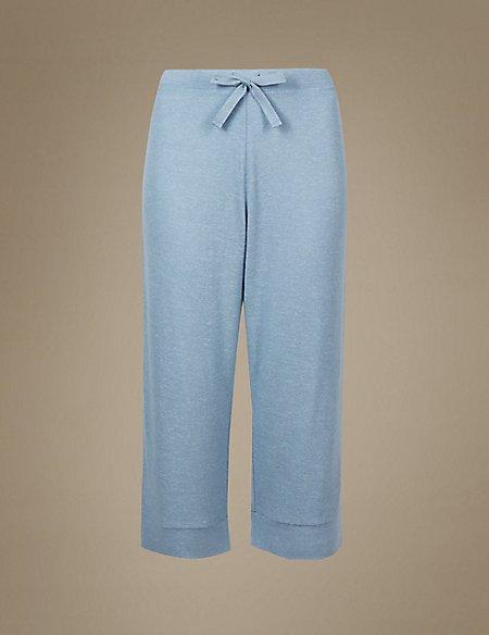Textured Cropped Pyjama Bottoms