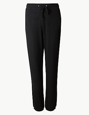Cosy Knit Cuff Pyjama Bottoms, BLACK, catlanding