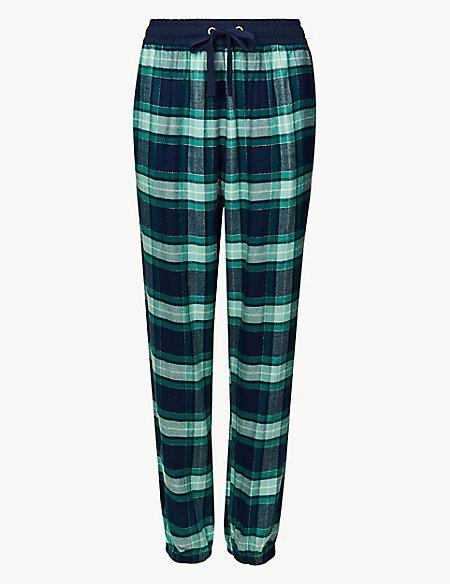 Checked Long Pant Pyjama Bottoms