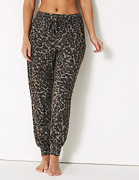 Cosy Animal Print Lounge Pant, NEUTRAL, catlanding