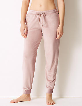 Supersoft Fleece Lounge Bottoms, PINK, catlanding