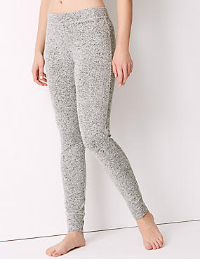 Cosy Knit Legging Pyjama Bottoms, GREY MIX, catlanding