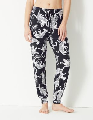 Leopard Cuffed Hem Pyjama Bottoms