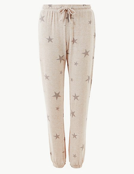 Star Print Cosy Lounge Bottoms