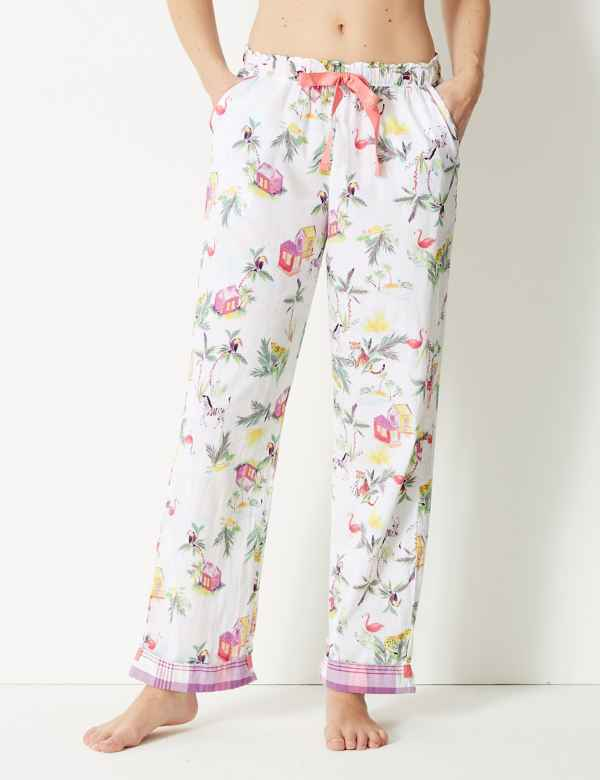 Pure Cotton Tropical Pyjama Bottoms. New. M S Collection 81f2f6096