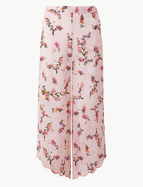 Floral Cropped Pyjama Bottoms