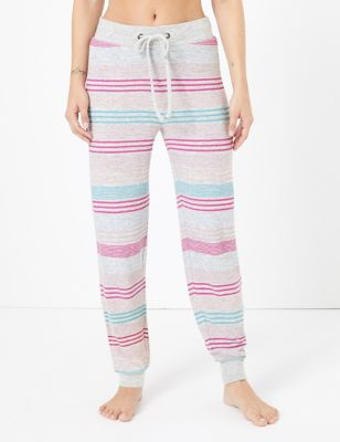 Striped Cuffed Hem Lounge Pants