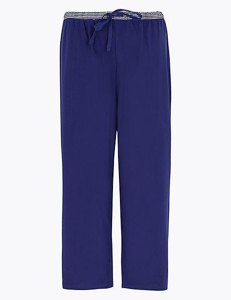 Cotton Cropped Pyjama Bottoms