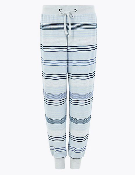 Cosy Knit Striped Lounge Bottoms