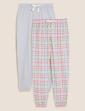 Set van 2 pyjamabroeken met print en boordjes