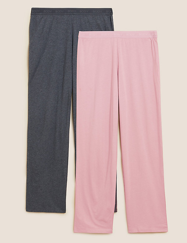 2 Pack Cotton Modal Pyjama Bottoms