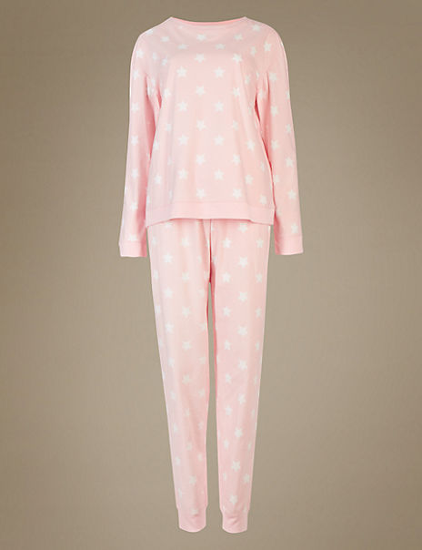 Sumptuously Soft Star Print Pyjama Set