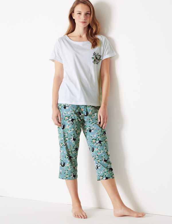 a42f7d81b79c2 Pure Cotton Jungle Cropped Pyjama Set