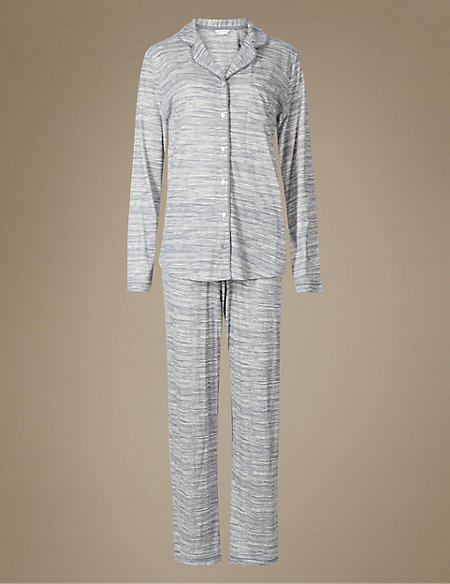 Printed Revere Long Sleeve Pyjama Set