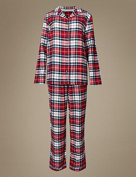 Women's Pure Cotton Checked Pyjamas