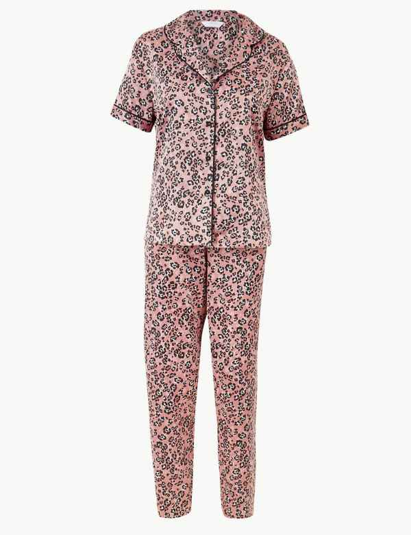 420c5cafe3 Satin Animal Short Sleeve Pyjama Set