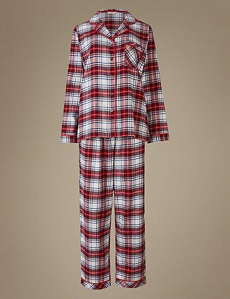 Pure Cotton Checked Long Sleeve Pyjamas