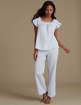 Pure Cotton Textured Pyjama Set