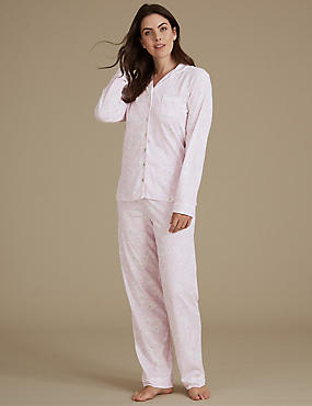 Modal Blend Printed Long Sleeve Pyjama Set