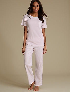 Cotton Blend Short Sleeve Pyjama Set