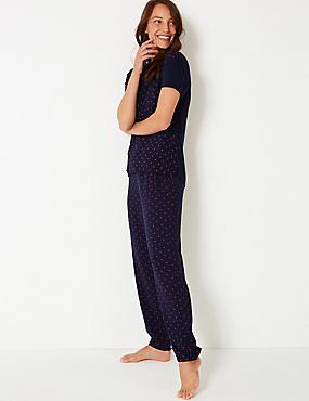 6dec7c3fedea Star Print Short Sleeve Pyjama Set ...