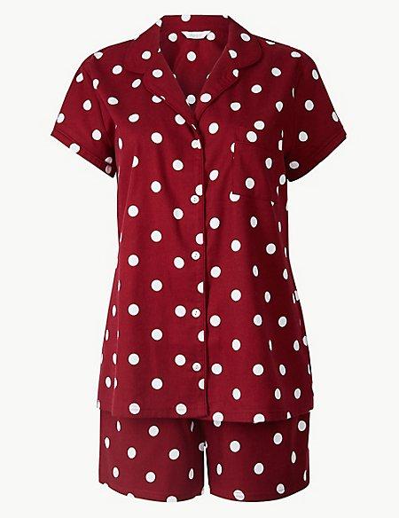 Spot Print Pyjama Set