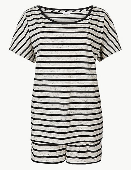 Cotton Rich Striped Pyjama Sets