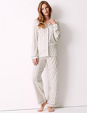 Modal Blend Floral Print Pyjama Set