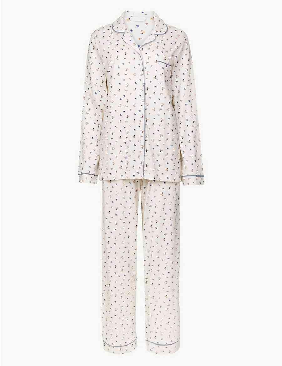 Cool Comfort™ Cotton Modal Floral Pyjama Set  e9631cc1e