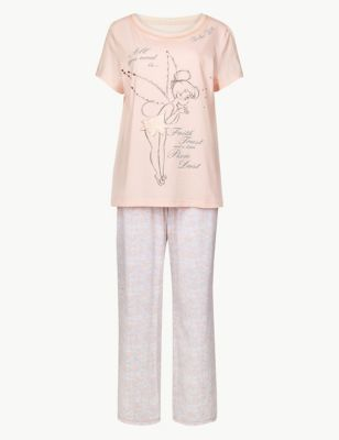 Pure Cotton Tinkerbell Pyjama Set by Marks & Spencer