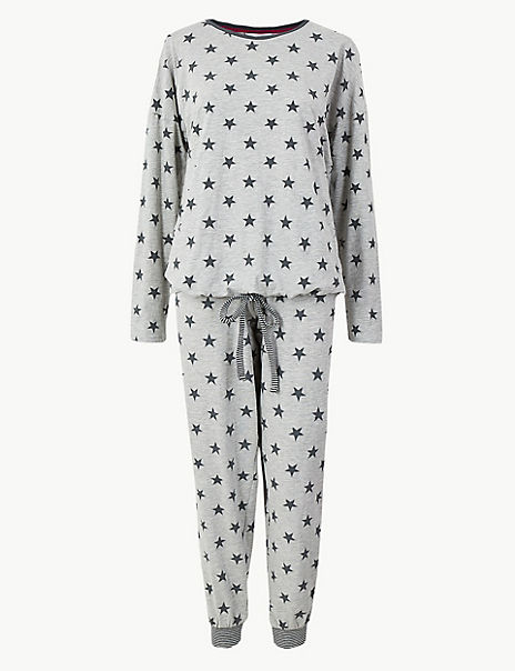 Glitter Star Print Pyjama Set