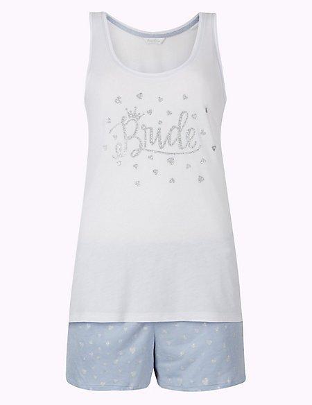 Bride Heart Short Pyjama Set