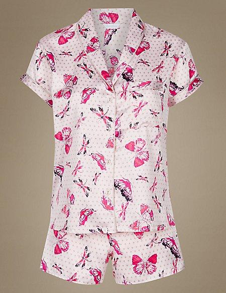 Satin Printed Short Pyjama Set