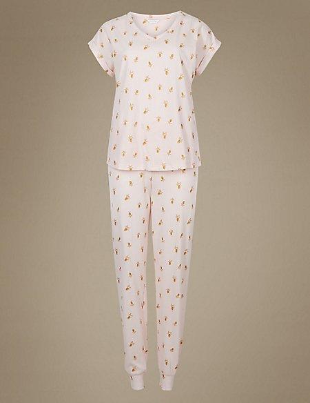 Pure Cotton Pineapple Print Pyjama Set