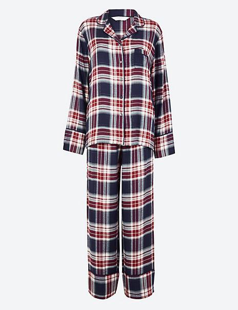 Brushed Checked Pyjama Set