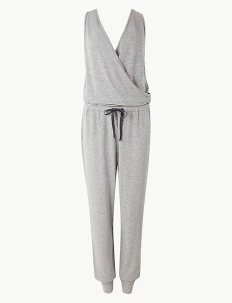 Loungewear Cuffed Hem Jumpsuit