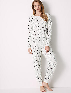 Cotton Rich Llama Print Pyjama Set
