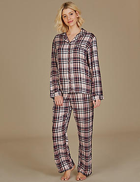 Checked Long Sleeve Pyjama Set